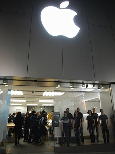 2008/02/02 渋谷のアップルストアにMacBook Airを見に行ってきた