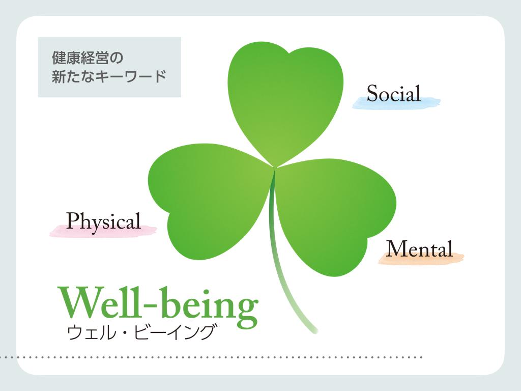 健康経営の新たなキーワード? 〜Well-being〜
